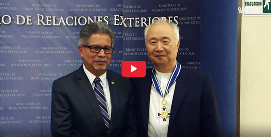 Ilchi Lee Visits El Salvador and Wins Presidential Award!